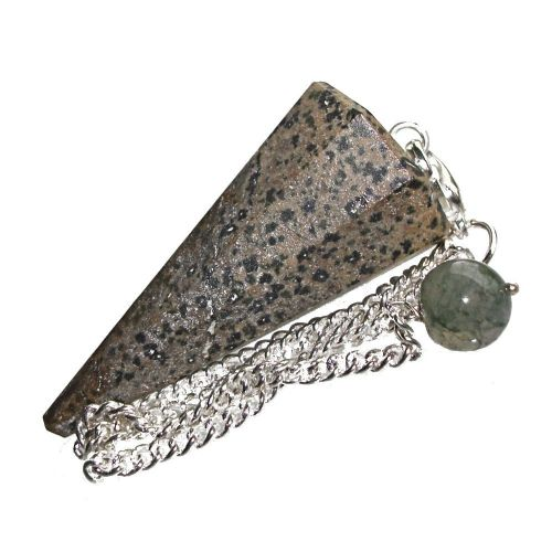 Dalmatian Jasper Dowsing Pendulum Crystal Point